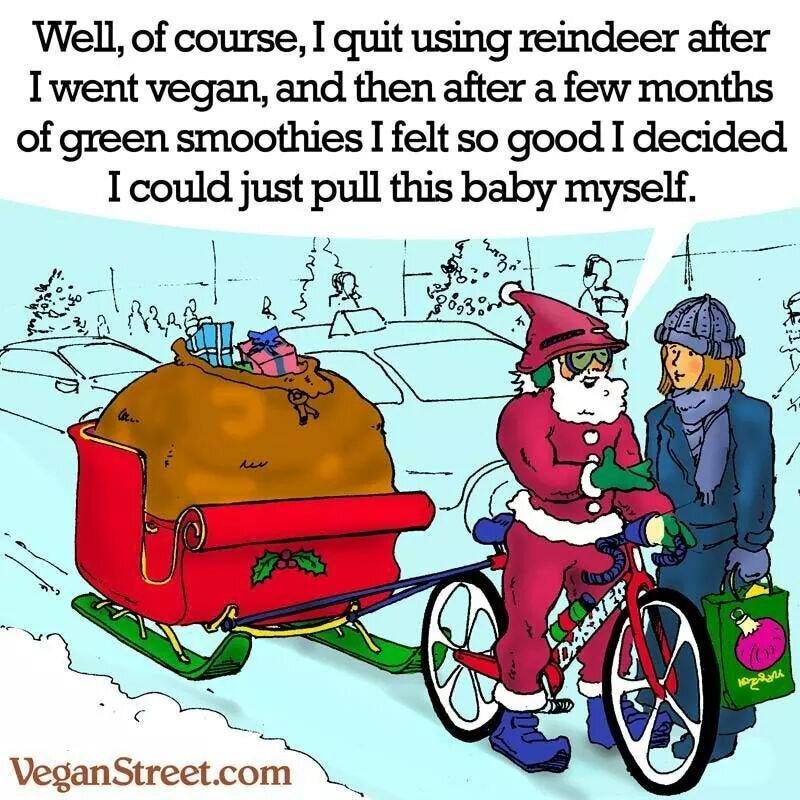 Le Père Noël n'est pas vegan