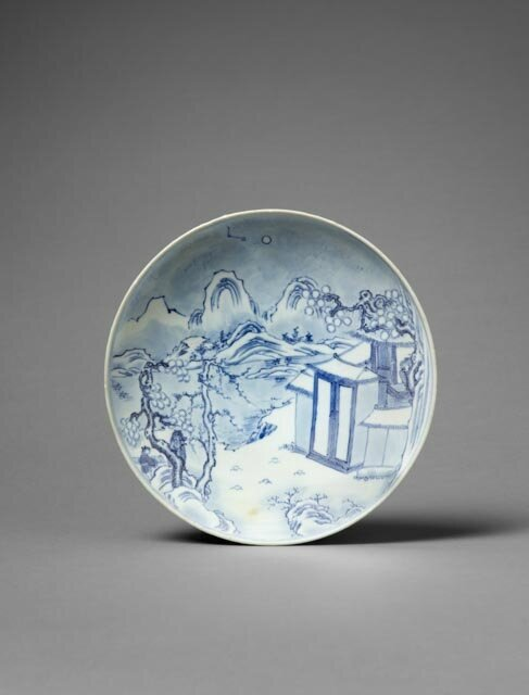 Plate, China, Transitional period, 17th c