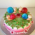 Gâteau la famille escargot