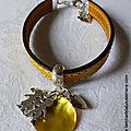 Bracelet cuir pour maîtresse, nounou - 22 €
