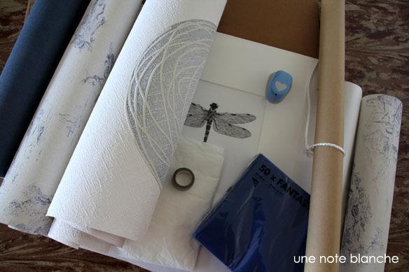 DIY_paquet_cadeau_Jouy_champetre_bleu_materiel