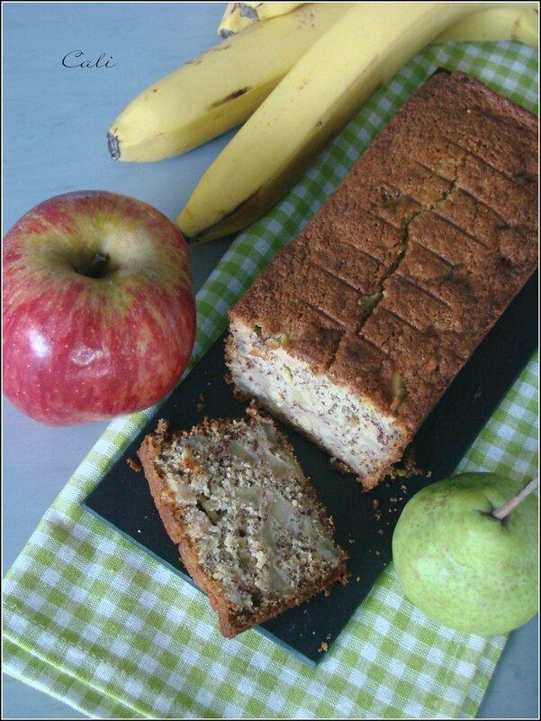 Cake à la Banane, Pomme & Poire - Sans Gluten 002