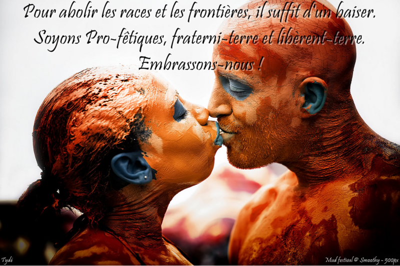 Pour abolir les races et les frontières, il suffit d'un baiser