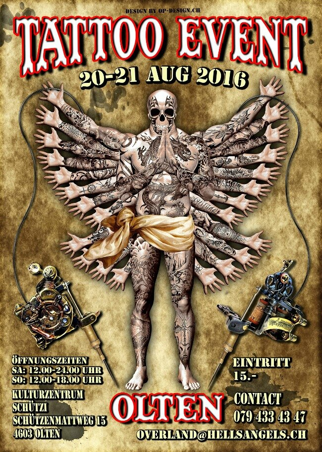 Tattoo Convention Olten 20 à 21 Août 2016