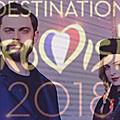 Présentation des participants à destination eurovision : madame monsieur - mercy