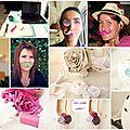 Une semaine à l'atelier # 72 : entre mariage champêtre et customisation des copines ...