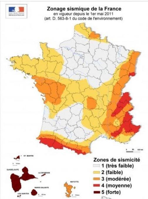 Carte de sismicité (France)