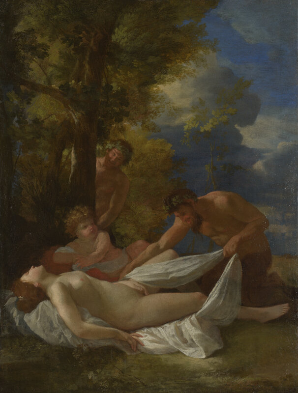 Nicolas Poussin, Nymph with Satyrs
