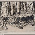 Tissot, La campement au parc d'Issy (souvenir du siège de Paris)