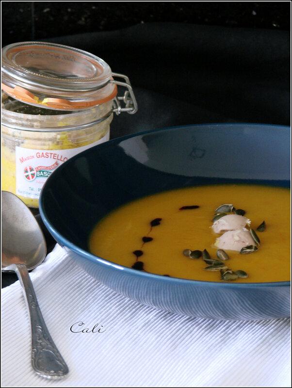 Crème de Potimarron au Foie Gras & Balsamique 002