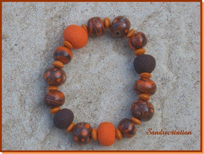 bracelet couleurs d'automne