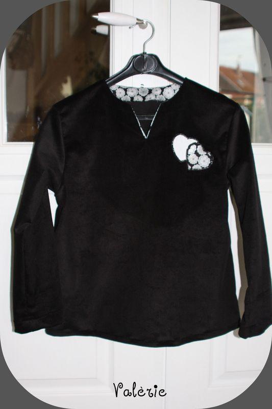 tunique meriem noire et liberty toria gris