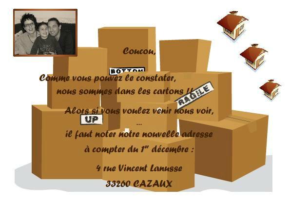 carton chgt adresse