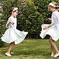 Cortège or et blanc - les grandes filles