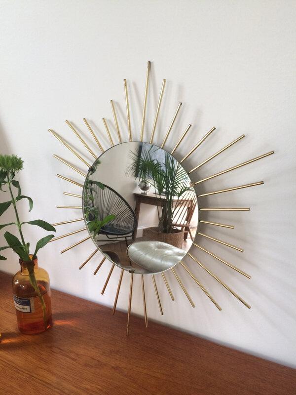 miroir soleil or
