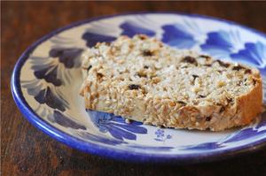 Lazy loaf flocons de riz, farine 5 cereales-3 graines & raisins de Corinthe
