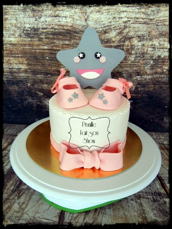 gateau baby shower fille étoile prunillefee