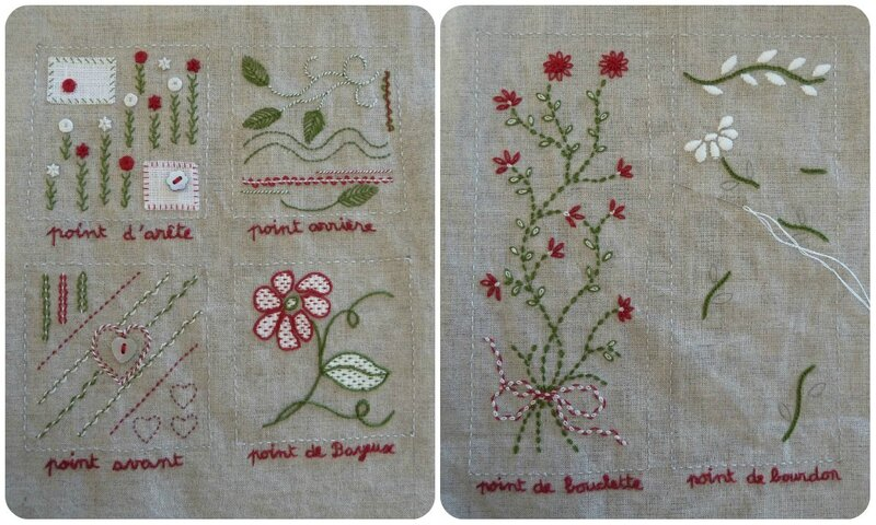 collage cahier de broderie