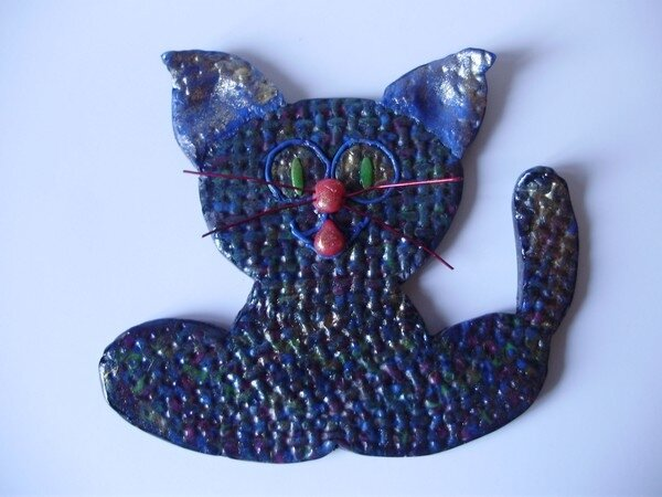 chat plaque de porte