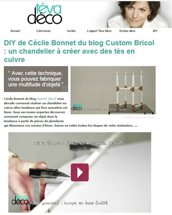 Capture DIY chandelier
