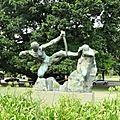 Détails argentins 10 : les statues