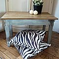 Table basse pupitre bleu -In Situ+vignette