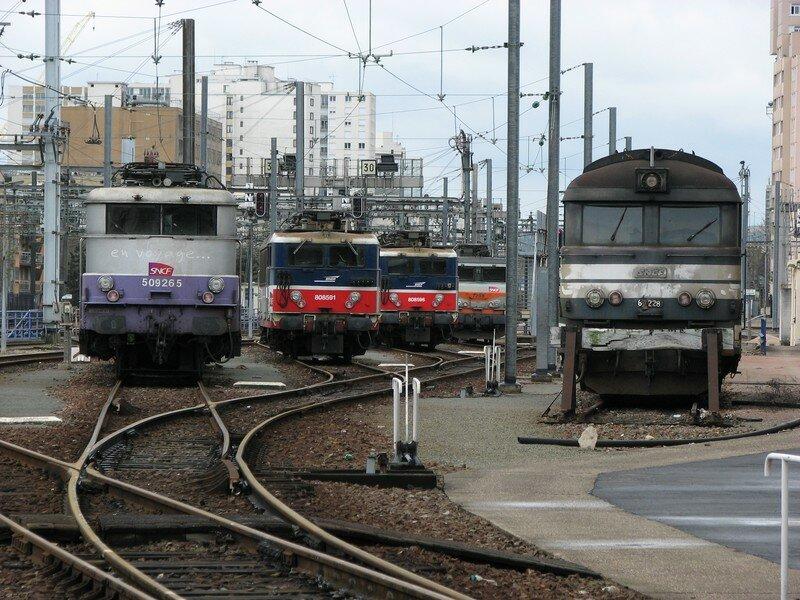 MontparnasseVaugirard, BB 9265, BB 8500(x2), BB 7298 & BB 67 228