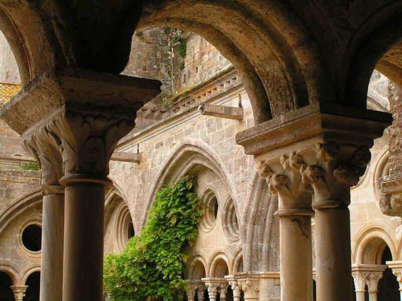 Abbaye de Fontfroide - Cloitre - Chapiteaux