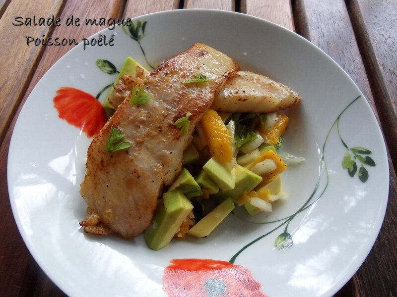 salade de mangue poisson poélé 1