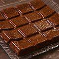 Flan au chocolat et flocons d'avoine