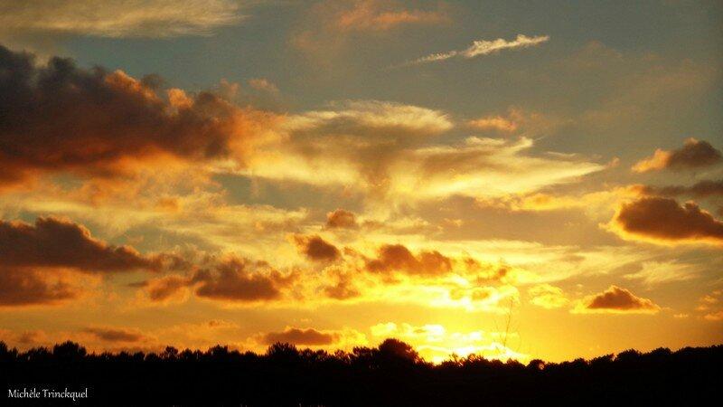 Lac de la Pounte Escos et Coucher de soleil 081016