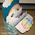 Card-in-a-box licorne arc-en-ciel - profil