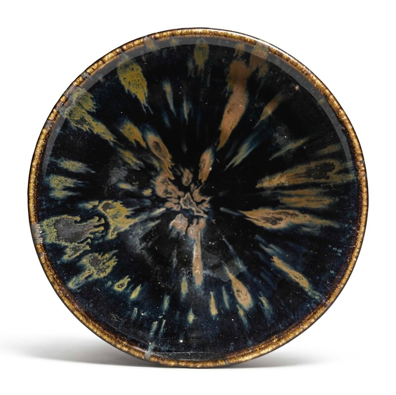 A rare 'Ding-type' russet-splashed 'partridge feather' bowl, Northern Song-Jin dynasty