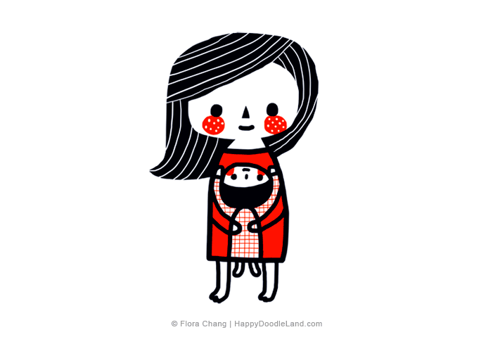 Mother's+Love+©+Flora+Chang+-+Happy+Doodle+Land