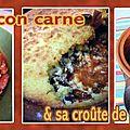 Chili con carne et sa croûte de polenta