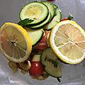 Saumon en papillote aux légumes d'été