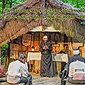 Pierre monnereau et le prieuré du brouzils dans la forêt de grasla au fond du bocage vendéen.