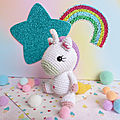 Charlotte la licorne au crochet - adorables animaux par so croch'