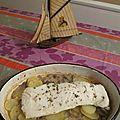 Cabillaud rôti aux pommes de terre
