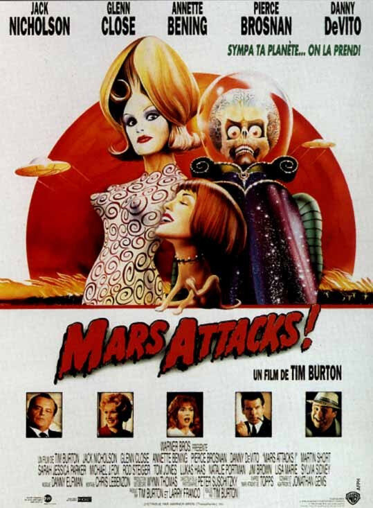 Affiche Film Mars Attacks