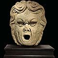 An italian stone fountain mask, 17th century, problably florence