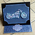 Carte chevalet moto