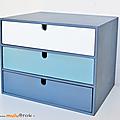 Petit mobilier ... meuble casier * 3 tiroirs