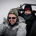 Jénorme et Nick Canon, plateau de Beille, mars 2014