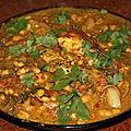 Curry de poulet epinards haricots blancs