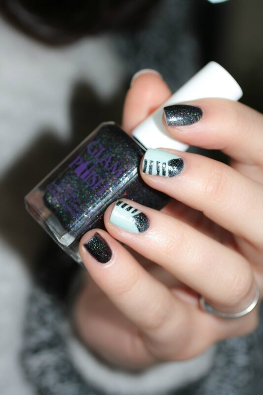 nail art fiver butter london glam polish the old black magic-6