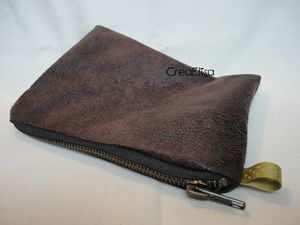 Pochette simily cuir ext