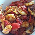 Fricassée de chipirons sauce rouge