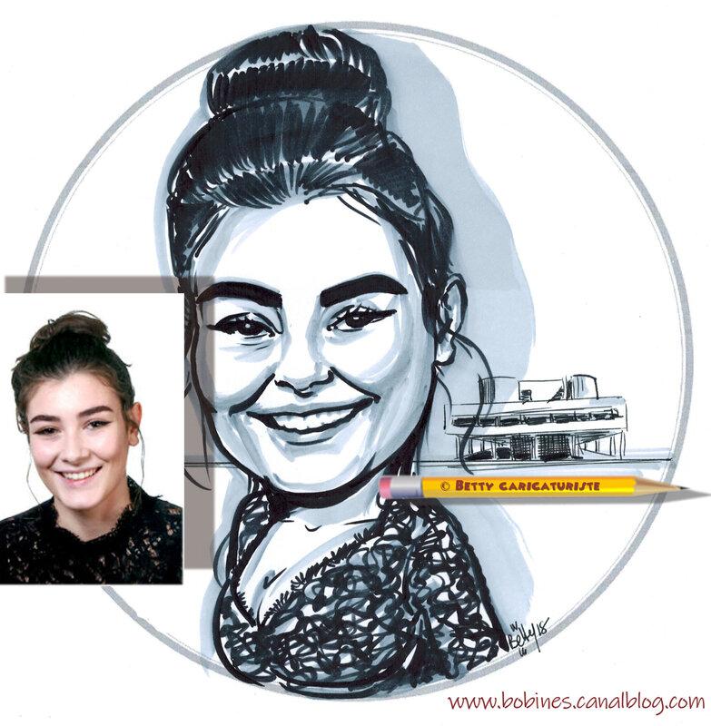 caricature lecorbusier portrait villa savoye
