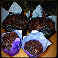 Muffins chocolat-courgettes